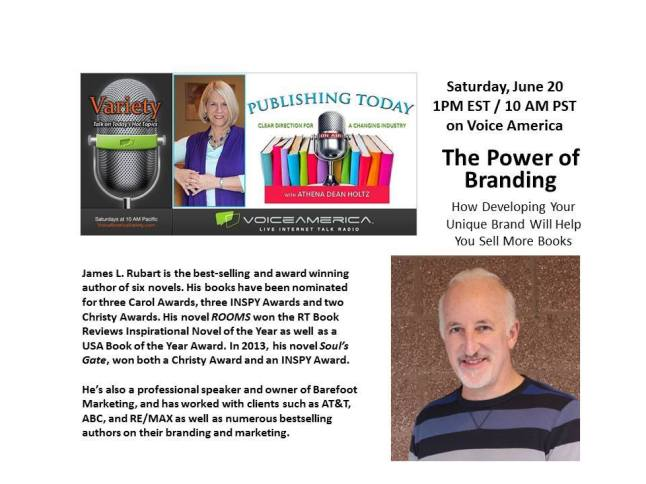 James L Rubart Publishing Today show on branding